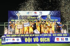 U17 Quốc gia 2020: Thắng Nutifood, Sông Lam Nghệ An lần thứ 8 vô địch