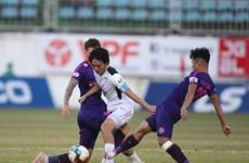 Cận cảnh hành động xấu xí của cầu thủ Sài Gòn FC với đối thủ HAGL