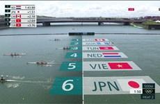 Rowing Việt Nam hoàn thành ngày thi đấu đầu tiên ở Olympic Tokyo 2020