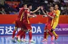 Cận cảnh futsal Việt Nam thi đấu kiên cường trước tuyển Nga