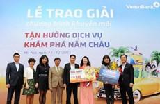 """VietinBank trao 5 tỷ đồng """"Tận hưởng dịch vụ, khám phá năm châu"""""""