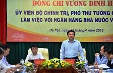Phó Thủ tướng Vương Đình Huệ làm việc với Ngân hàng Nhà nước