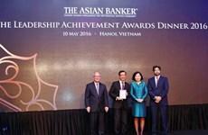 Nhiều ngân hàng cổ phần được The Asian Banker trao giải thưởng