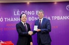 IFC trở thành cổ đông của TPBank với việc sở hữu 5% vốn điều lệ