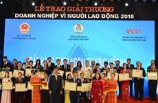 """Vietcombank được trao giải """"Doanh nghiệp vì Người lao động"""""""