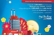 Chi tiêu thẻ tín dụng JCB VietinBank nhận nhiều phần quà hấp dẫn