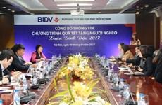 BIDV dành 12 tỷ đồng tặng quà Tết Đinh Dậu cho người nghèo