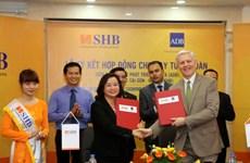 ADB cung cấp 20 triệu USD vốn vay thương mại cho SHB