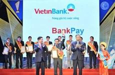 VietinBank được vinh danh hai sản phẩm tại Sao Khuê 2017
