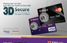 TPBank áp dụng phương thức xác thực 3D secure cho chủ thẻ