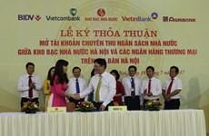 Bốn ngân hàng lớn phối hợp thu ngân sách Nhà nước trên địa bàn Hà Nội
