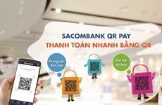 Sacombank triển khai phương thức thanh toán nhanh bằng QR Pay