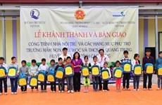 Bàn giao nhà nội trú do Vietcombank tài trợ tại tỉnh Cao Bằng