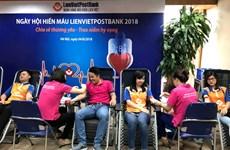 """Ngày hội hiến máu """"Vẻ đẹp đời là cho đi"""" của cán bộ LienVietPostBank"""