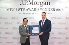 HDBank giành giải dịch vụ thanh toán quốc tế xuất sắc toàn cầu