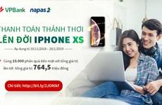Nạp tiền điện thoại trên VPBank online có cơ hội sở hữu IPhone XS