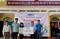 NAPAS khởi công phòng học và giáo vụ cho học sinh miền núi Hòa Bình