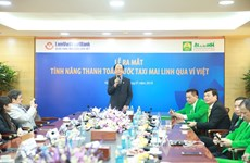 MaiLinh Group và LienVietPostBank cung cấp dịch vụ đi taxi chi Ví Việt