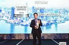 Vietcombank nhận giải thưởng ngân hàng tốt nhất Việt Nam năm 2019
