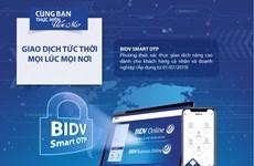 Tích hợp Smart OTP ngay trên ứng dụng BIDV SmartBanking