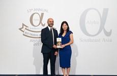 Vietcombank nhận giải thưởng từ Tạp chí Alpha SEA trao tặng
