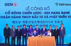 KEB Hana Bank chính thức sở hữu 15% vốn điều lệ của Ngân hàng BIDV