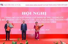 Chánh Văn phòng NHNN giữ chức Chủ tịch Hội đồng thành viên Agribank
