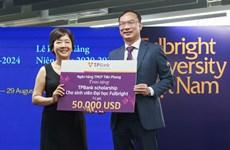 TPBank trao 50.000 USD cho sinh viên Đại học Fulbright Việt Nam