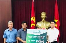 Vietcombank ủng hộ 11 tỷ đồng giúp đồng bào miền Trung vượt qua lũ dữ