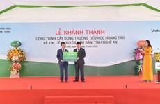 Vietcombank khánh thành trường học trên quê hương Chủ tịch Hồ Chí Minh