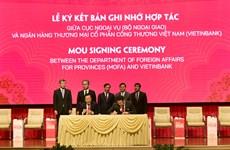 VietinBank và Bộ Ngoại giao ký kết biên bản ghi nhớ về hợp tác