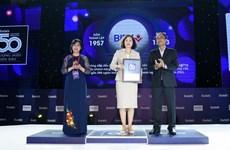 BIDV được Forbes vinh danh tốp 50 thương hiệu dẫn đầu năm 2020