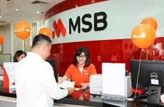 Lợi nhuận trước thuế của ngân hàng MSB đạt 2.500 tỷ đồng