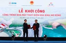 Vietcombank tài trợ 4.000 tỷ đồng xây dựng thủy điện Hòa Bình mở rộng