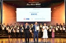 Giải pháp eKYC của MB giành giải thưởng 'Sao Khuê 2021'