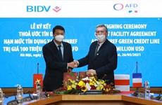 AFD cung cấp 100 triệu USD cho BIDV tài trợ dự án năng lượng xanh