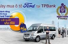 Khách hàng vay vốn mua xe Ford tại TPBank được ưu đãi lãi suất 0%