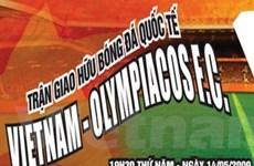 Giảm 5% giá vé trận bóng Việt Nam-Olympiacos