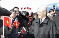 Chủ tịch Quốc hội bắt đầu thăm Liên bang Nga