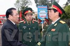 Tổng Bí thư chúc Tết Quân đoàn II và tỉnh Bắc Giang