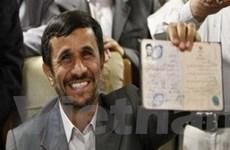 Tổng thống Iran Ahmadinejad tái tranh cử
