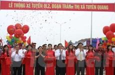 Thông xe quốc lộ 2, đoạn tránh thị xã Tuyên Quang