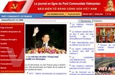 Website Đảng cộng sản ra trang tiếng Pháp