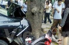 Nữ tài xế xe Civic gây tai nạn nghiêm trọng