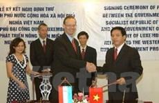 Luxembourg tài trợ phát triển nông thôn Nghệ An