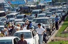 Tắc đường gần 10km trên quốc lộ 1A tại Vĩnh Long