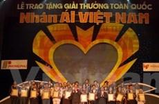 """80 tập thể, cá nhân nhận giải """"Nhân ái Việt Nam"""""""