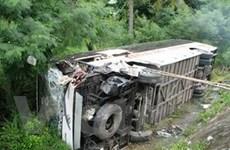 Quảng Ngãi: Lật xe khách, 30 người bị thương