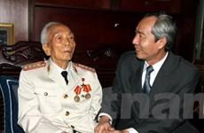 Lãnh đạo thăm, chúc Tết Đại tướng Võ Nguyên Giáp