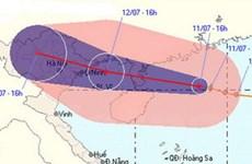 Bão số 4 sẽ trút mưa xuống các tỉnh Bắc bộ